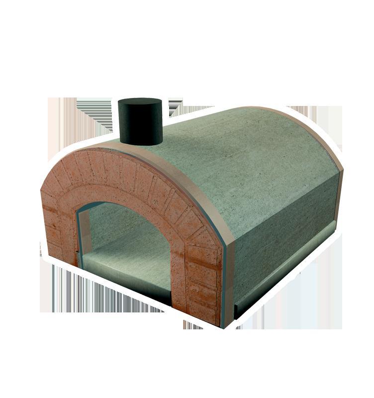 Forno a legna capri refrattario prefabbricato esterno con for Forno a legna 4 pizze